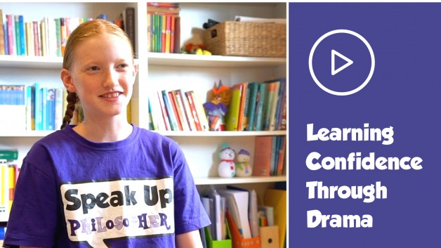 How does drama help build confidence
