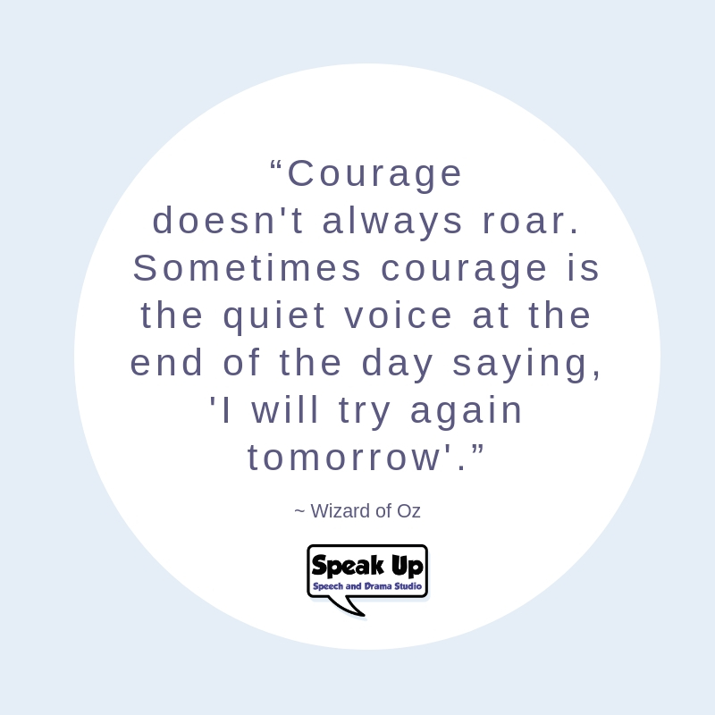 Courage quote Wizard of oz