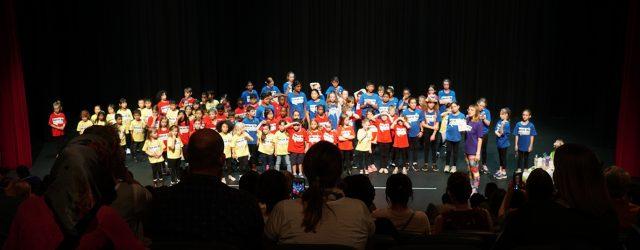 Kids performing on stage