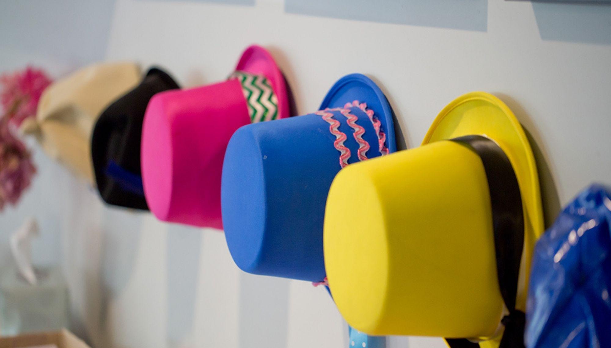 row of top hats