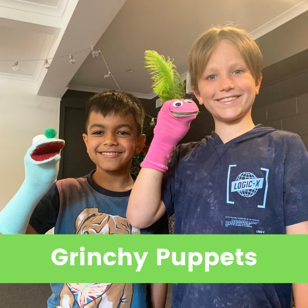 Grinchy Puppets Green