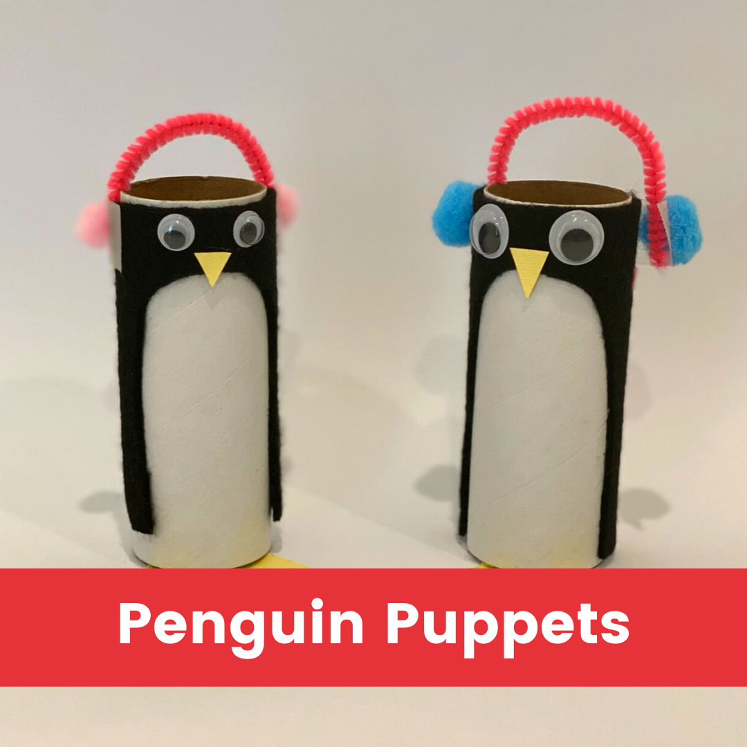 Penguin Puppets Red